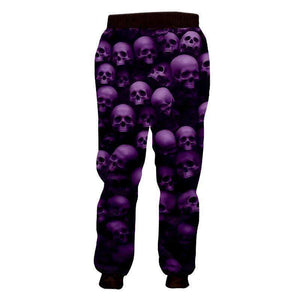 Herogameszone Skulls 3D Casual Pants Long Sleeve 3D Casual Pants Long Sleeve