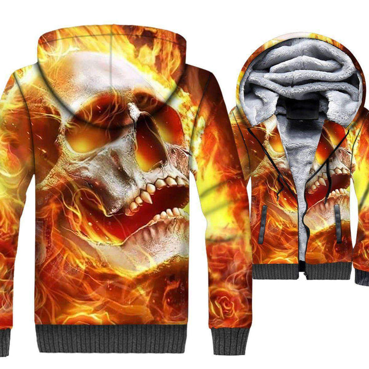 3D Full Print Zip Hoodie Warm Fleece