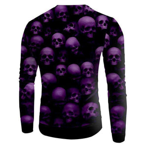 Herogameszone Skulls 3D Sweatshirt Long Sleeve 3D Sweatshirt Long Sleeve
