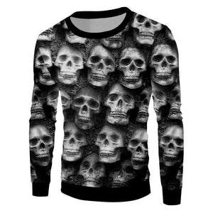 Herogameszone Skulls 3D Sweatshirt Long Sleeve S 3D Sweatshirt Long Sleeve