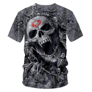 Herogameszone Skulls 3D T-Shirt Short Sleeve 3D T-Shirt Short Sleeve
