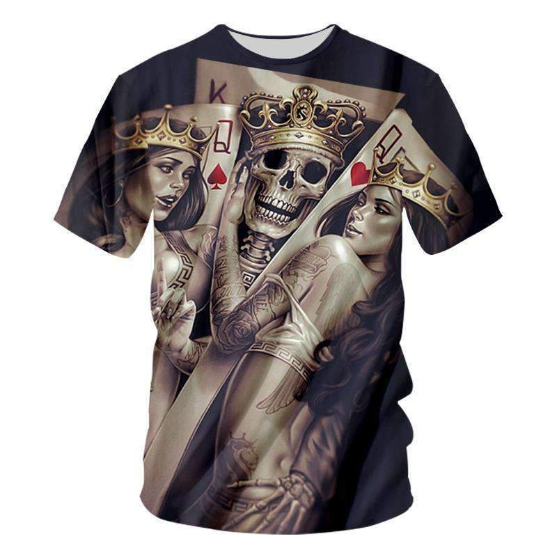 Herogameszone Skulls Bride 3D T-Shirt Short Sleeve S 3D T-Shirt Short Sleeve