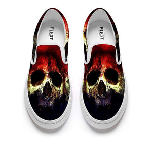 Herogameszone Skulls Casual Slip On Shoes Flat-Bottomed For Men # 4 / 5 Casual Slip On Shoes Flat-Bottomed For Men - 4 Styles