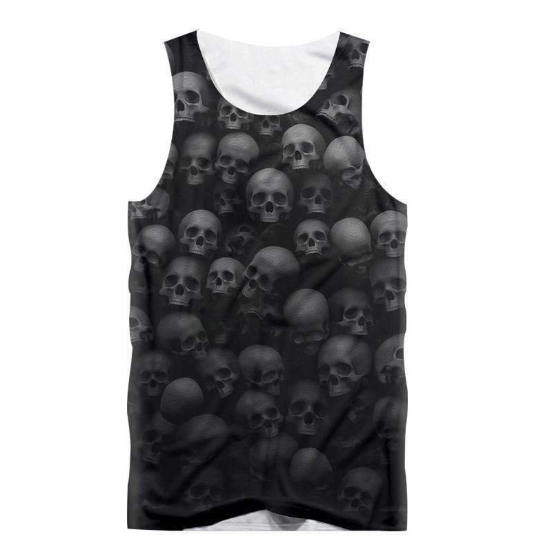 Herogameszone Skulls Tank Top Sleeveless S Tank Top Sleeveless