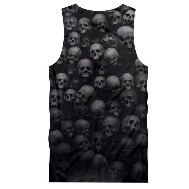 Herogameszone Skulls Tank Top Sleeveless Tank Top Sleeveless