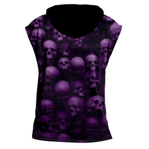 Herogameszone Skulls Tank Top Sleeveless With Hooded Tank Top Sleeveless With Hooded