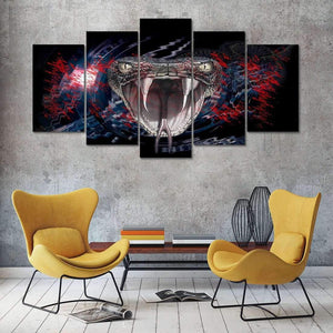 Herogameszone Snake Head Canvas Printed Wall Art Canvas Printed Wall Art