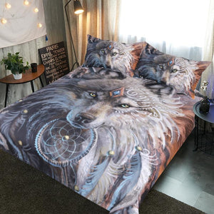The Great Wolf Warrior By SunimaArt Bedding Set