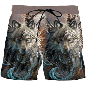 Herogameszone The Wolf Warrior 3D Shorts S 3D Shorts