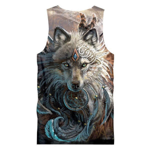 Herogameszone The Wolf Warrior Top Sleeveless Tank Top Sleeveless