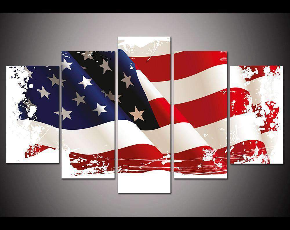 Herogameszone USA Flag Canvas Printed Wall Art Medium / No Frame Canvas Printed Wall Art