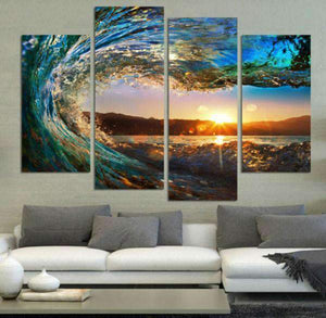 Herogameszone View From the Wave Canvas Printed Wall Art Canvas Printed Wall Art