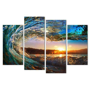 Herogameszone View From the Wave Canvas Printed Wall Art Medium / No Frame Canvas Printed Wall Art