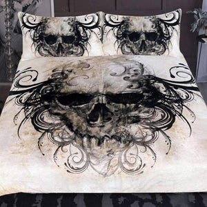 Herogameszone Vintage Gothic Skull Duvet Cover Bedding Set US Full Bedding Set