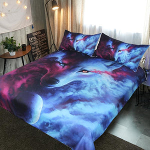 Where Light & Dark Meet Wolf By JojoesArt Bedding Set