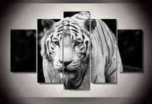 Herogameszone White Tiger Canvas Printed Wall Art Medium / No Frame Canvas Printed Wall Art