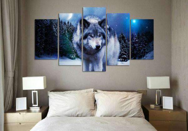 Herogameszone Wolf in the Snow Canvas Printed Wall Art Canvas Printed Wall Art