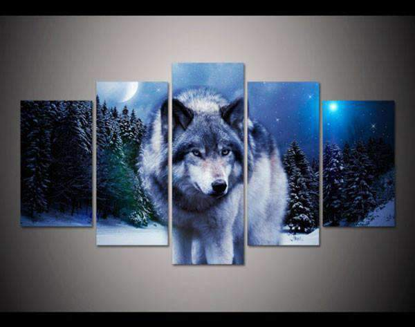 Herogameszone Wolf in the Snow Canvas Printed Wall Art Medium / No Frame Canvas Printed Wall Art