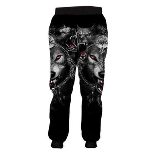 Herogameszone Wolves 3D Casual jogger pants Long Sleeve 3D Casual jogger pants Long Sleeve
