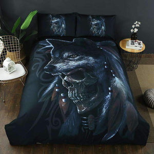 Herogameszone Wolves Skull Duvet Cover Set Wolves Skull Duvet Cover Set