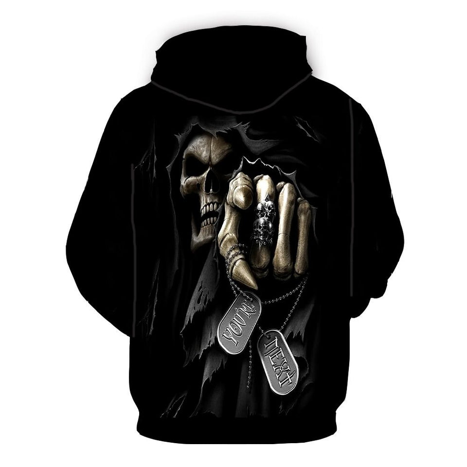 "Skull ""You Are Next"" Hoodie"