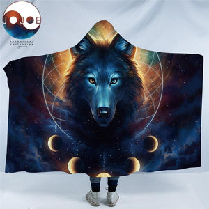 Wolf Dream-Catcher By Jojoesart Hooded Blanket