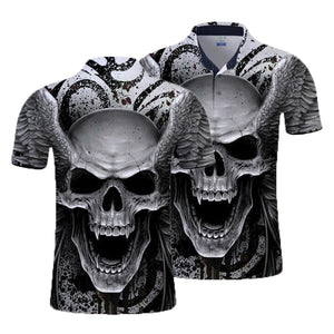Angel Skull Polo Shirt