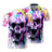 Colorful Skull Polo Shirt