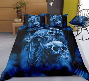 The Ripper Skull Duvet Cover Bedding Set