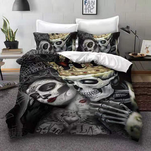 Beauty Skull King Kiss Bedding Set