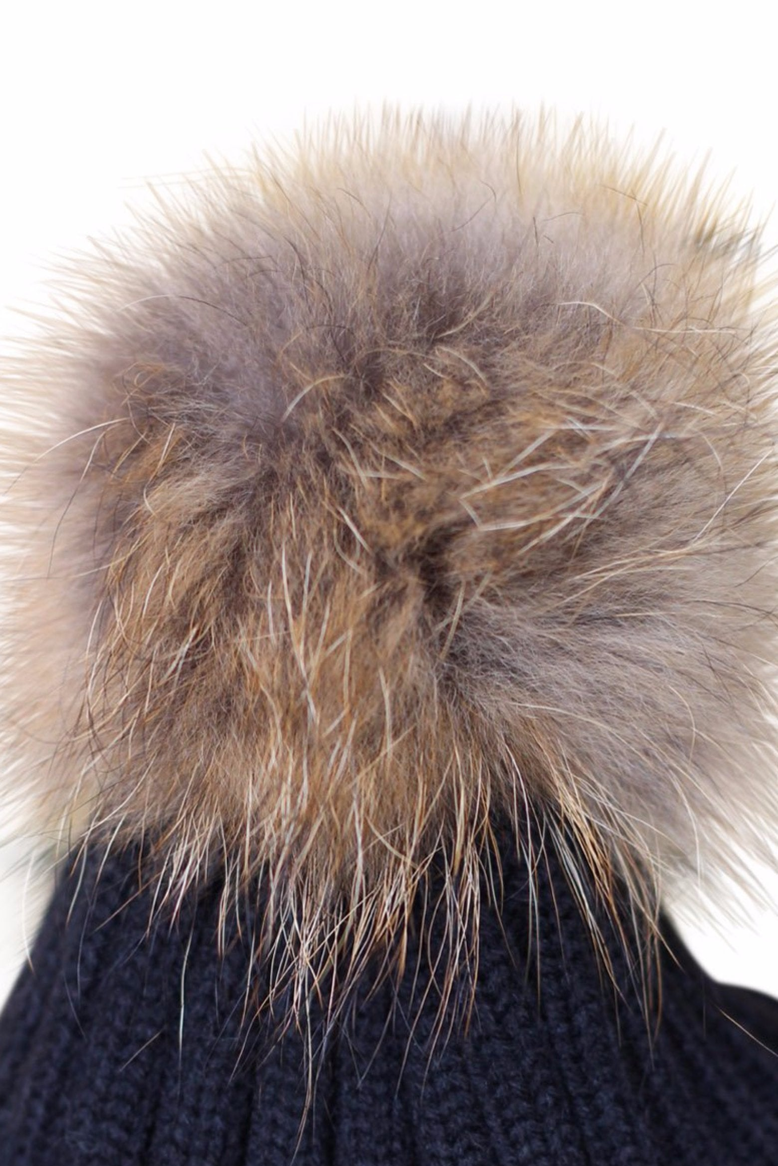 6b65d028423 Close Up Black Fur Bobble Hat