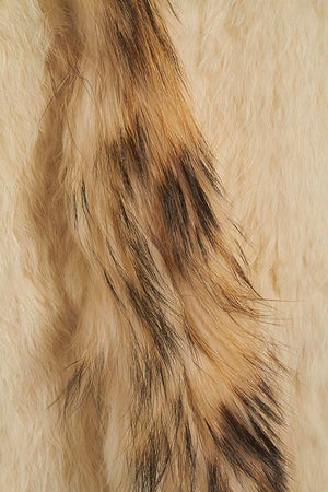 Long Length Cream Fur Gilet Close-up