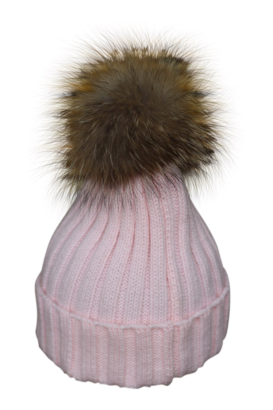 Pink Fur Bobble Hat