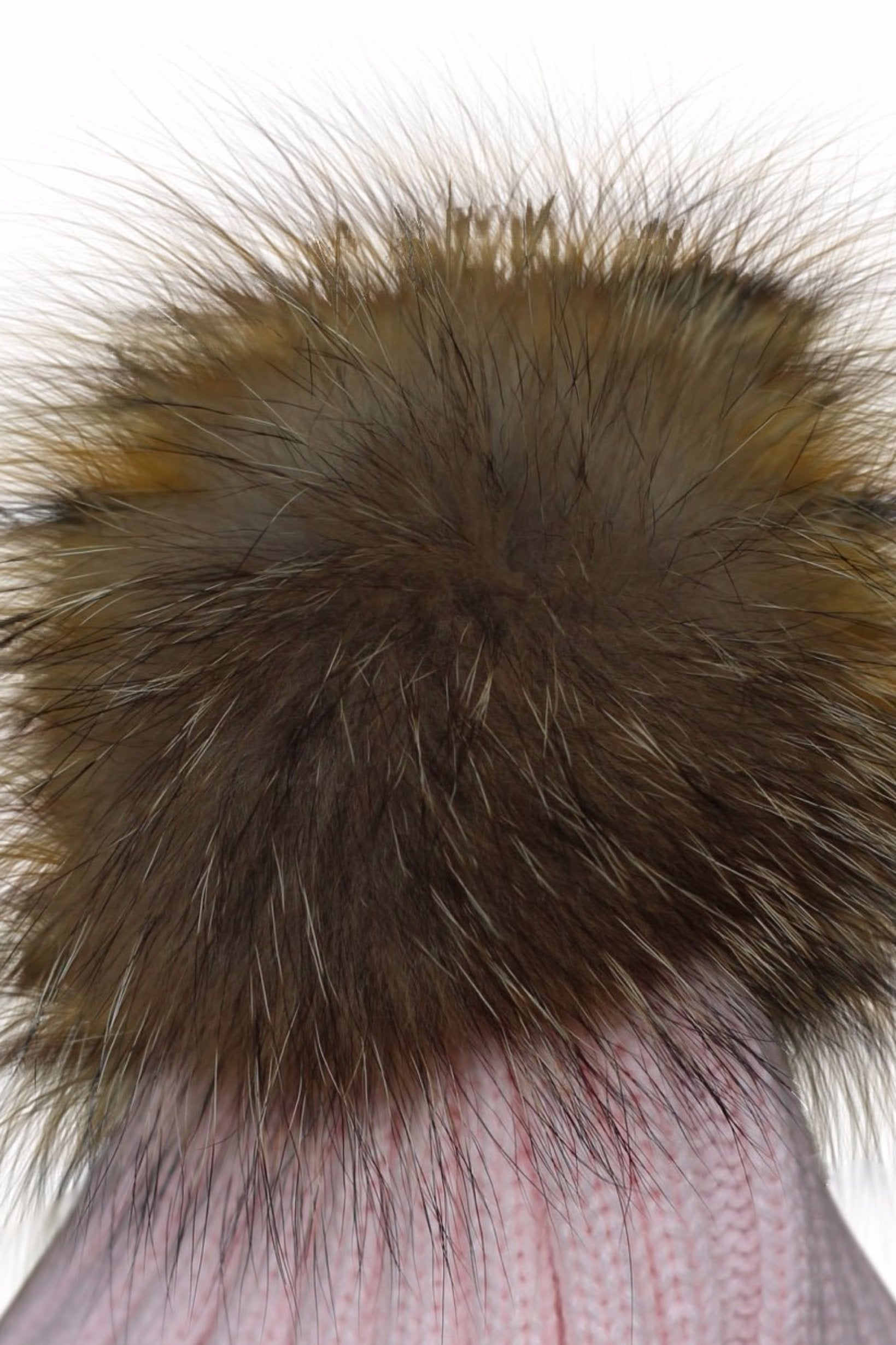 b5851364886 Close Up Pink Fur Bobble Hat