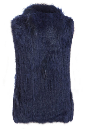 The Classic Blue Fur Gilet