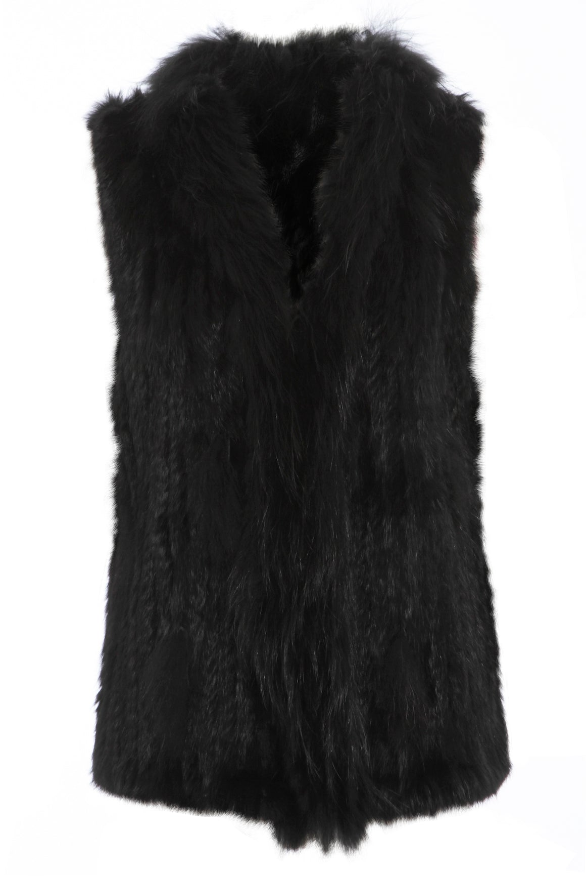 The Classic Black Fur Gilet
