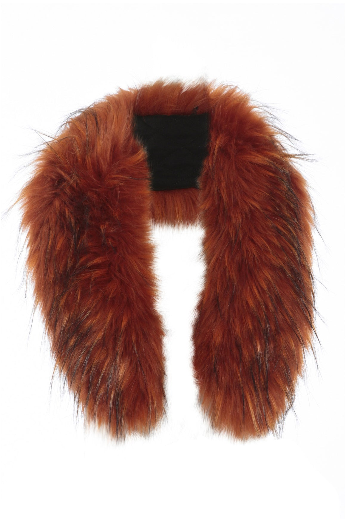 Faux Fur Collar Orange