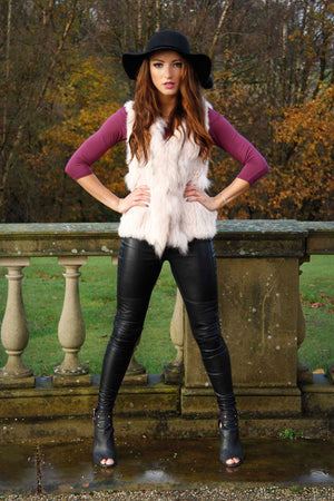 The Classic Blush Fur Gilet