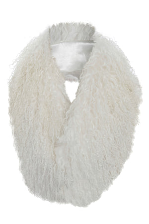 Mongolian Fur Collar White