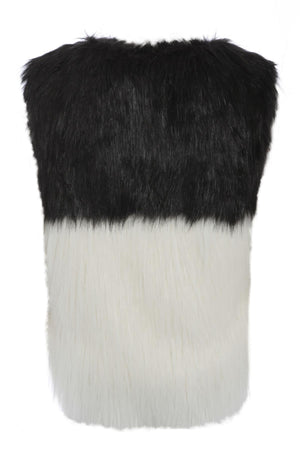Monochrome Faux Fur Gilet