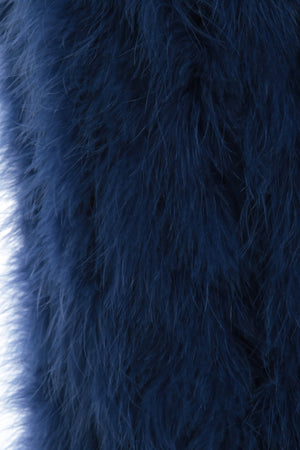 The Ostrich Fur Feather Gilet Blue