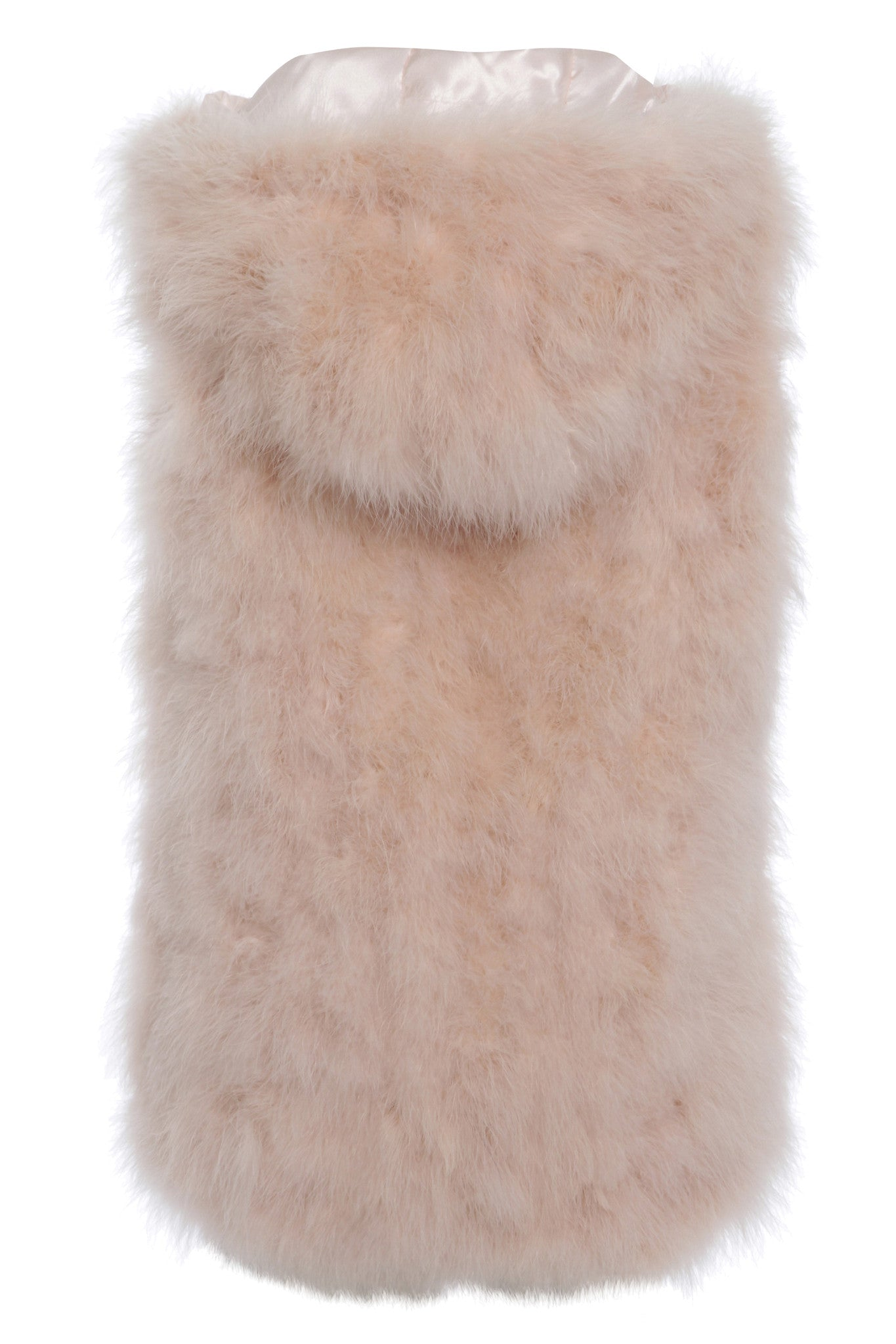 The Ostrich Fur Feather Gilet Pink