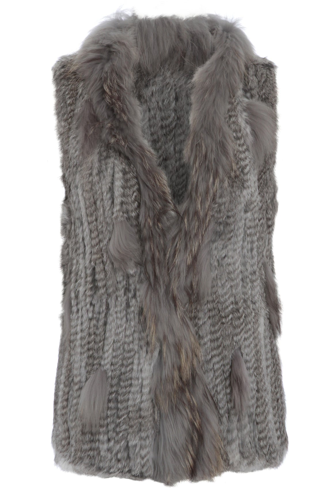 The Classic Grey Fur Gilet