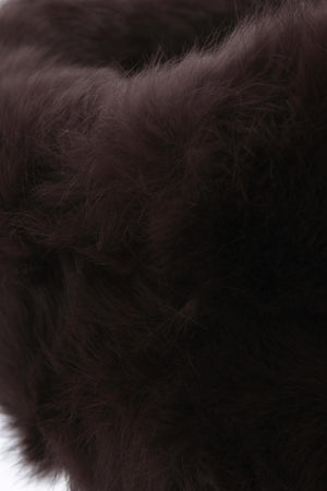 The Alps Fur Headband Brown