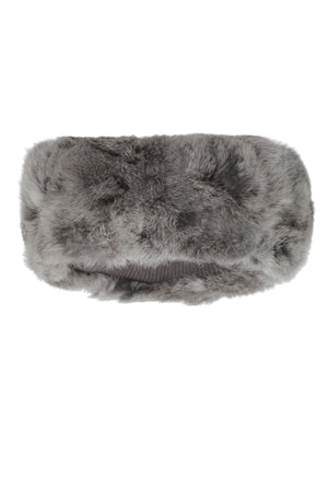The Alps Fur Headband Grey