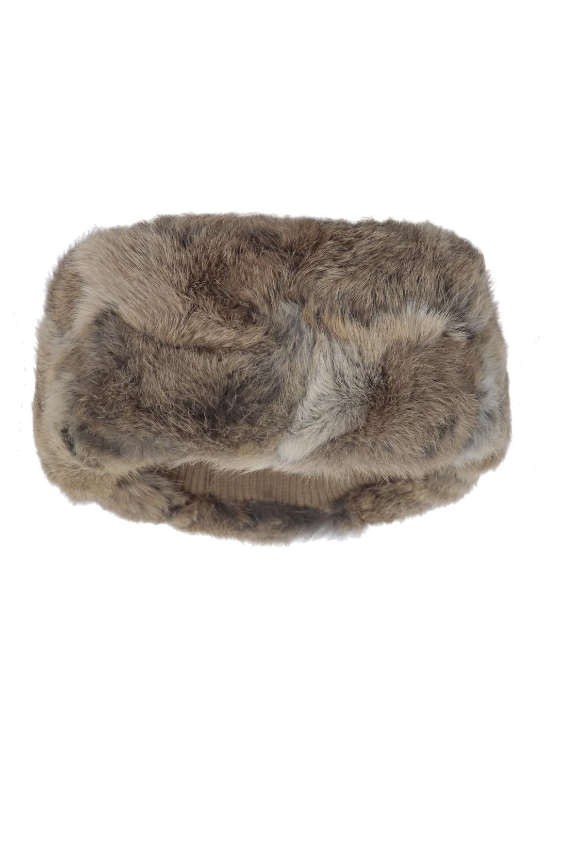 The Alps Fur Headband Natural Brown