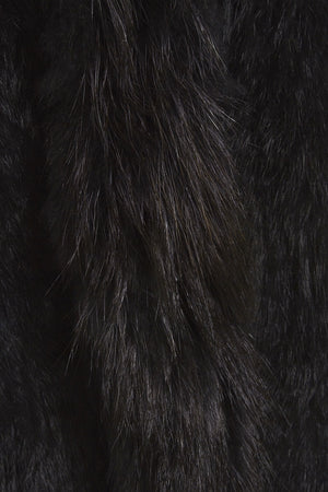 The Longer Length Black Fur Gilet