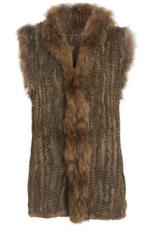 The Longer Length Brown Fur Gilet
