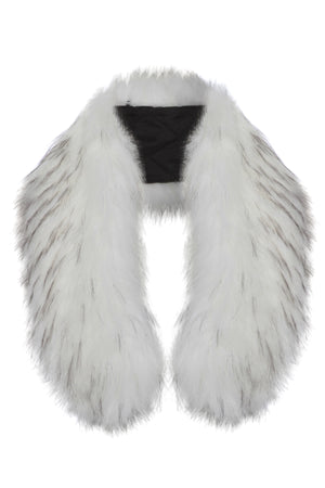Faux Fur Collar White