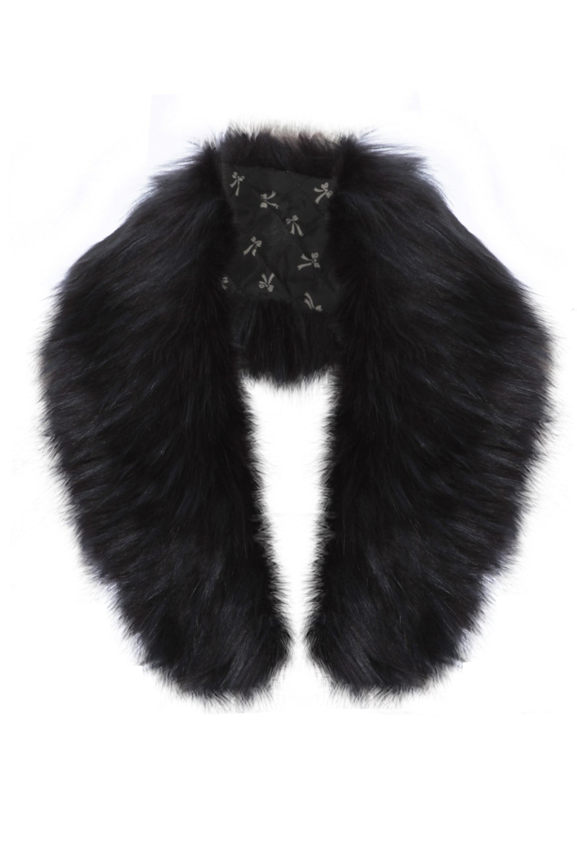 Faux Fur Collar Navy